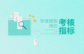 王占坡-快速提取岗位考核指标